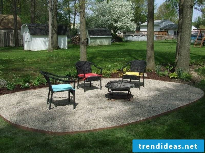 Before you start gravel garden and plant with grasses