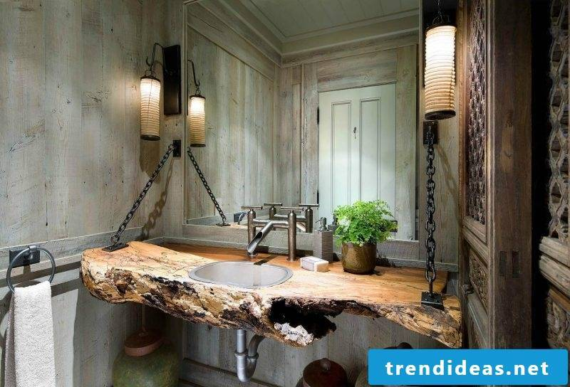 Badgestaltung ideas rustic style and outdated furniture