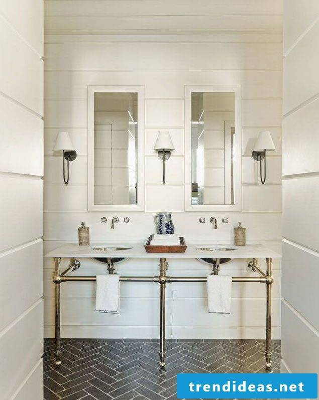 bathroom design ideas simple design in a rustic style with bright colors