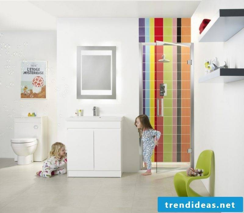 bathroom design ideas for shared bathroom which is comfortably equipped