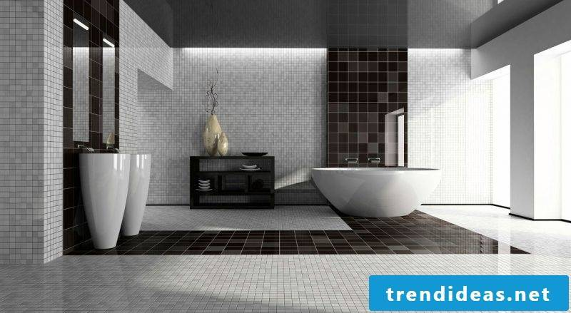 badgetsaltung ideas glass mosaic on the walls simple design in black and white