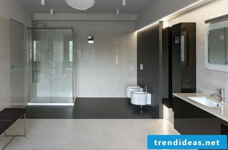 bathroom design ideas combined shiny surfaces and clear lines