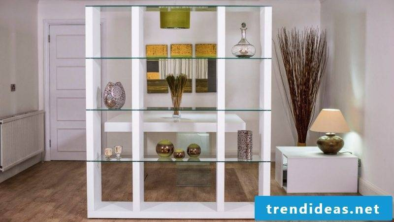 Glass shelves shelf