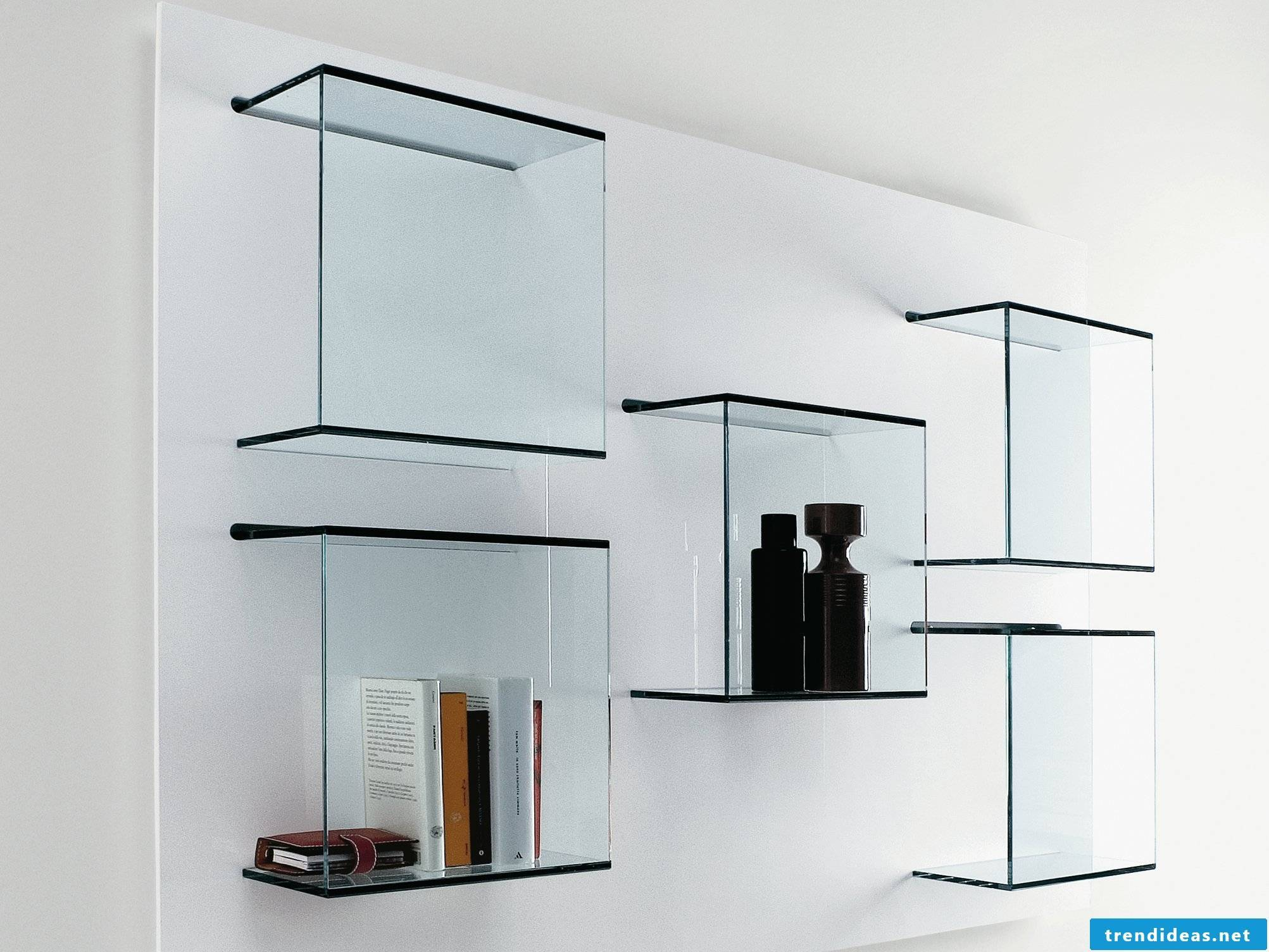 Ideas for glass shelves