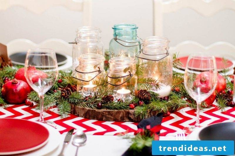 Order Advent wreath and put candles in glasses