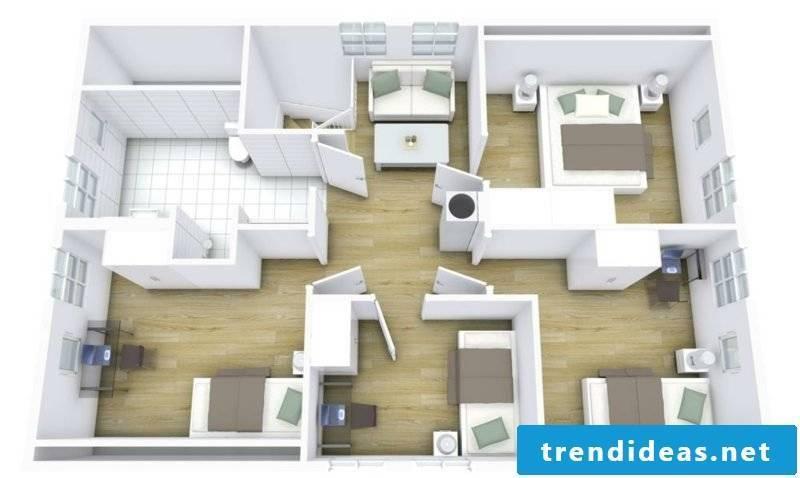 3d room planner floor plan greyed roomketcher