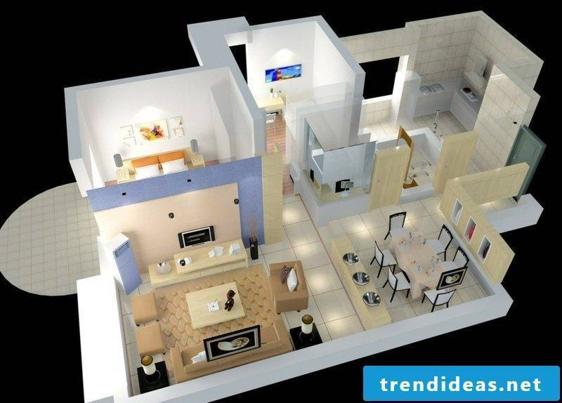 3d room planner house interior aerial view