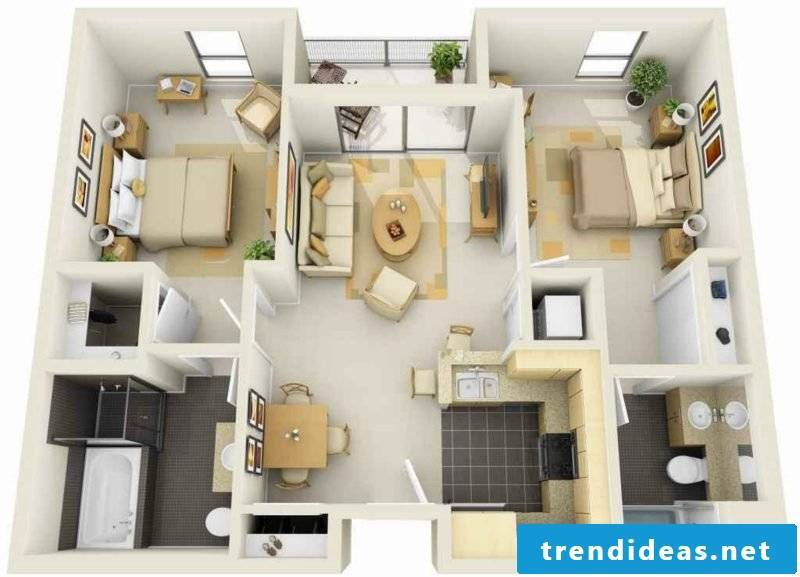 Set up and decorate 3d room planner