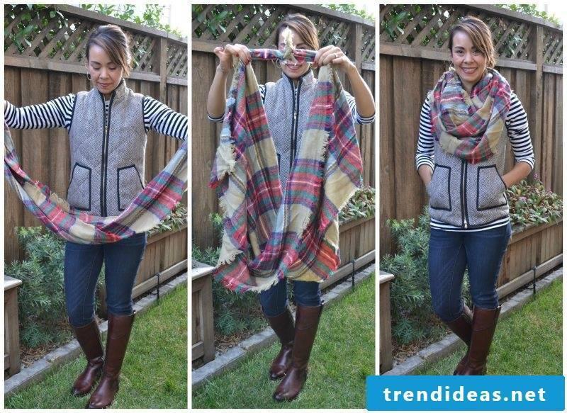 Loop scarf tie DIY