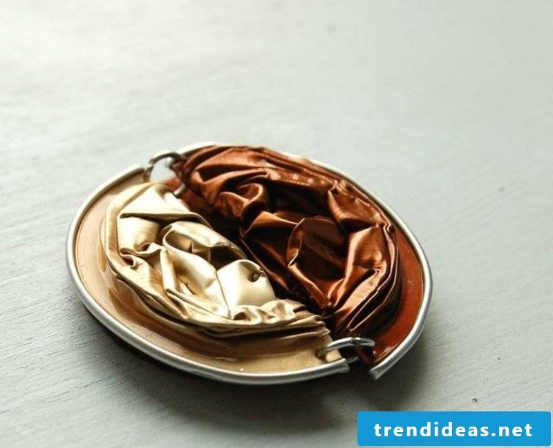 Brooch from Nespresso capsules