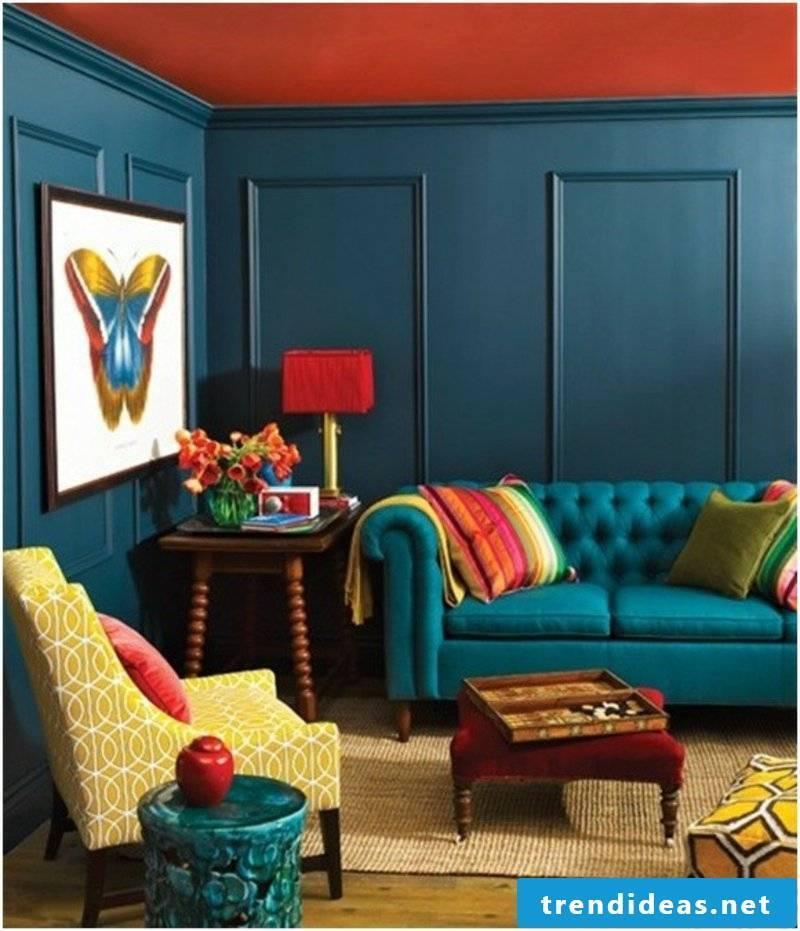 Contrast color modern ceiling design
