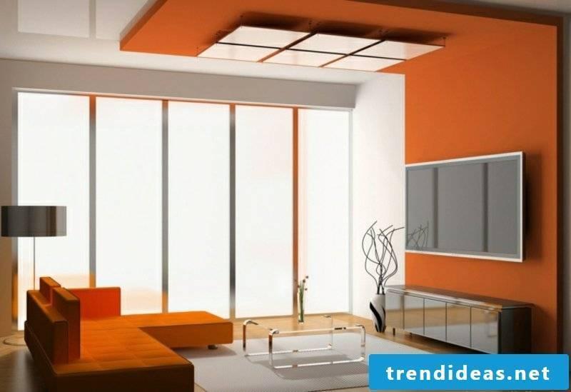 Ceiling trim orange