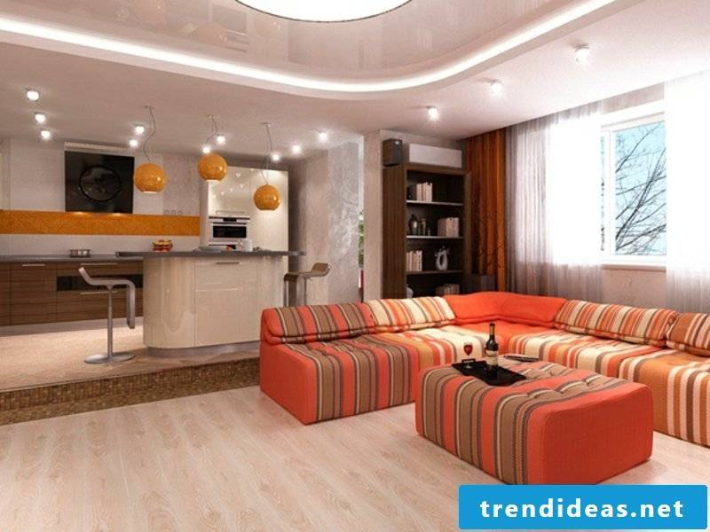 bright ceiling living room