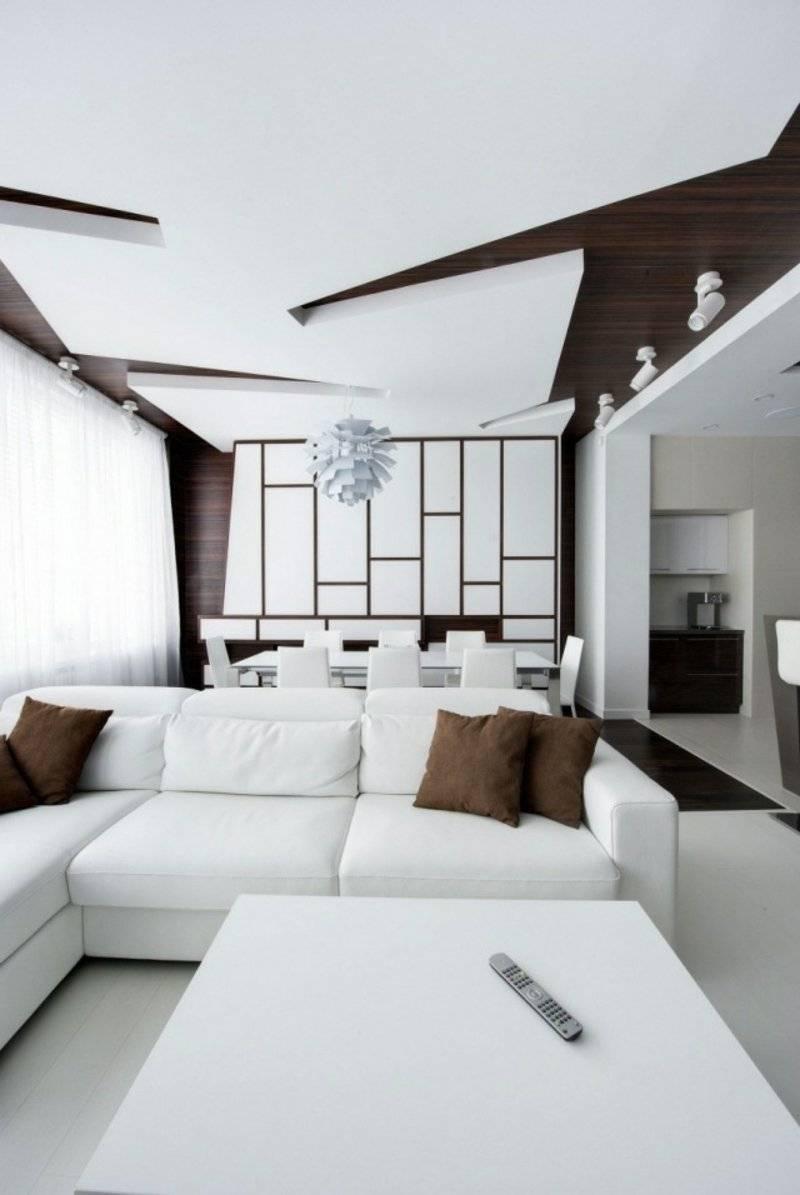 Ceiling paneling geometric motifs