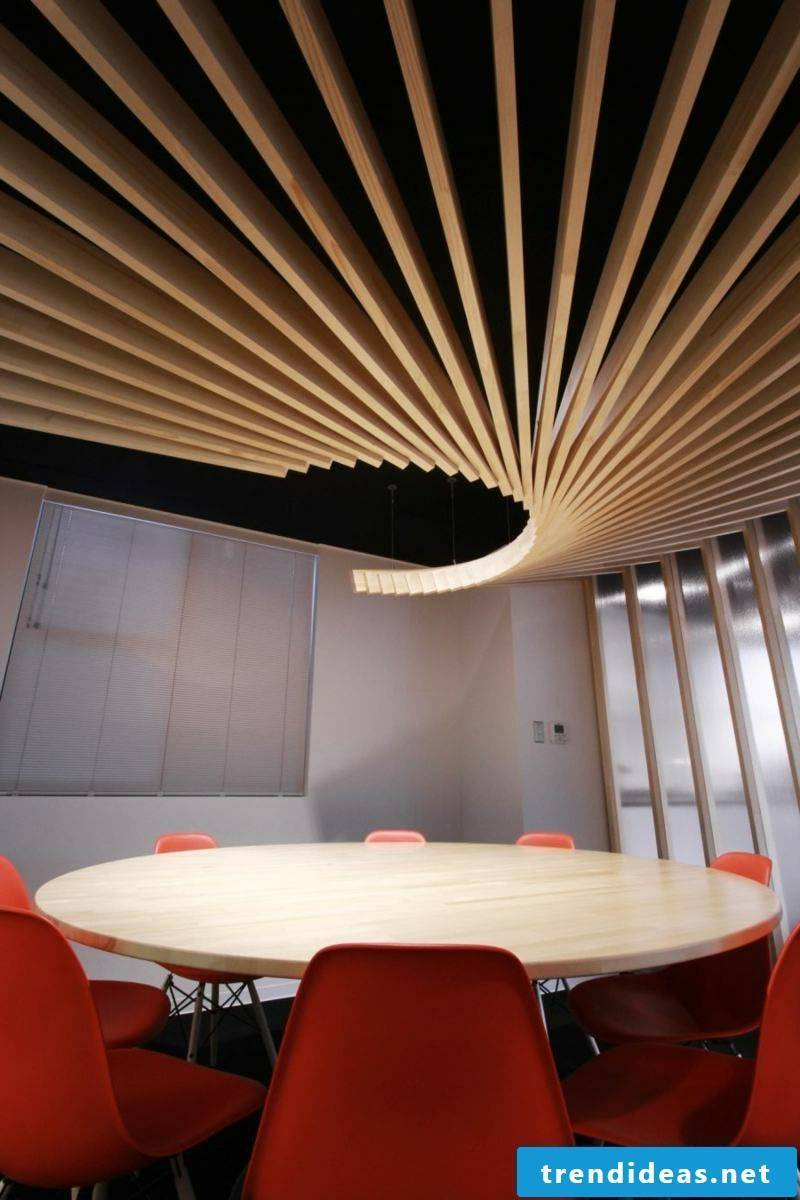 suspended ceiling wood