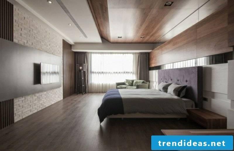 Bedroom ceiling paneling wood