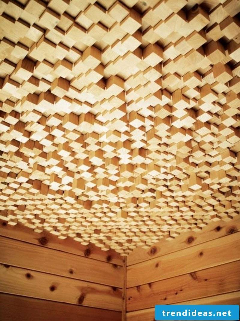 Wooden panels three-dimensional effect