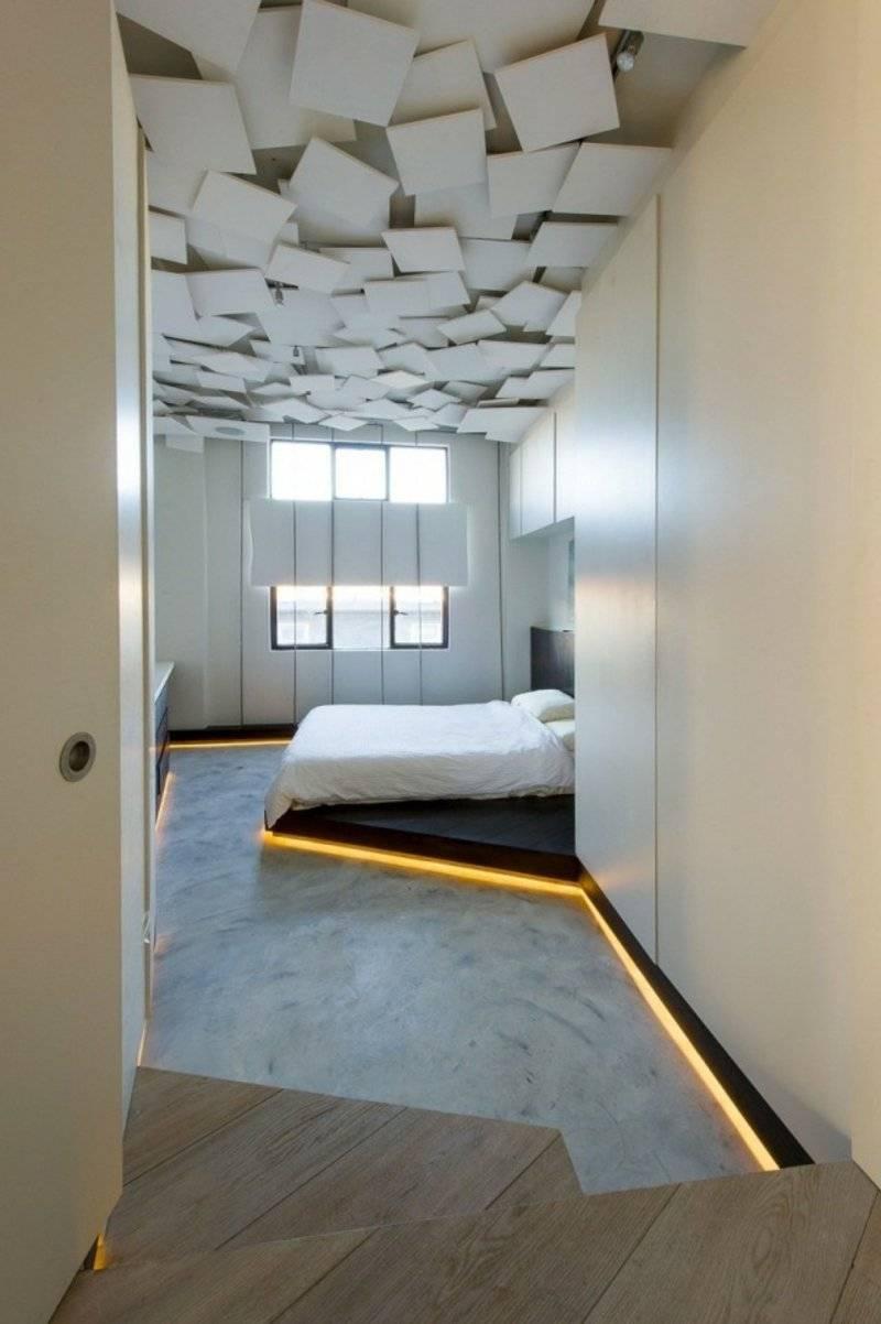 interesting ceiling design bedroom