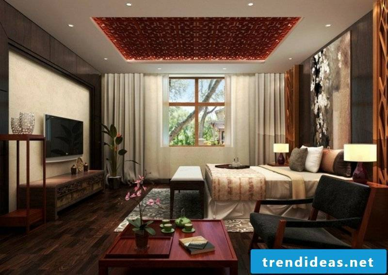 Ceiling covering in the bedroom