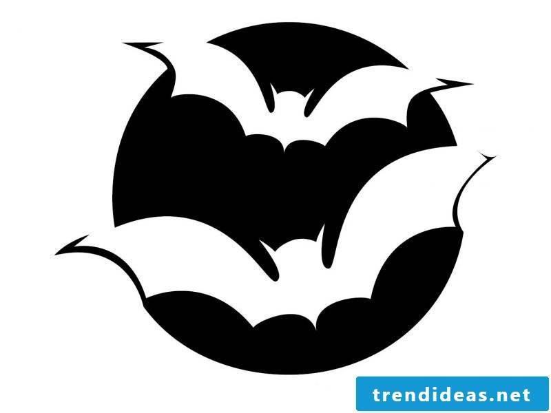 Pumpkin templates bats