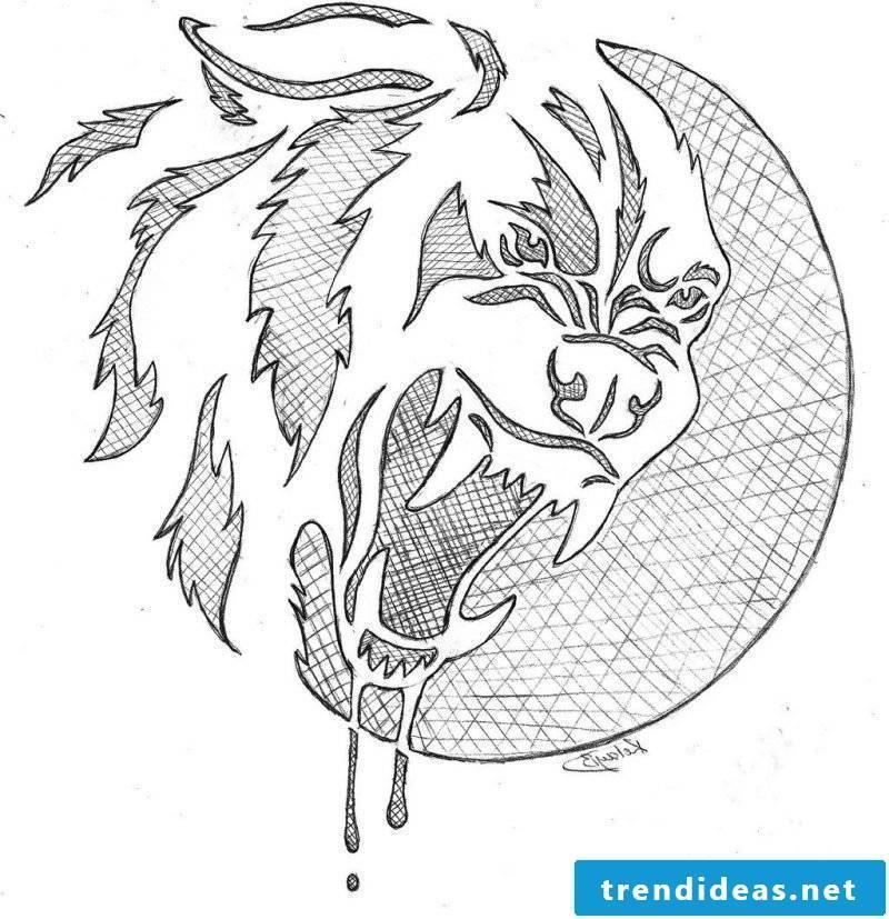 Pumpkin Templates: Wolf's face