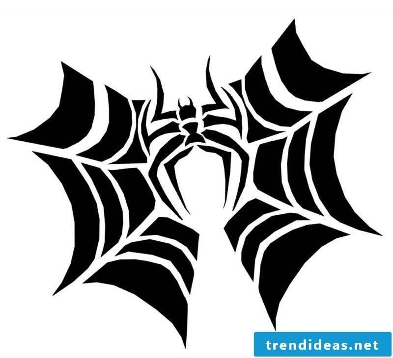Pumpkin templates spider