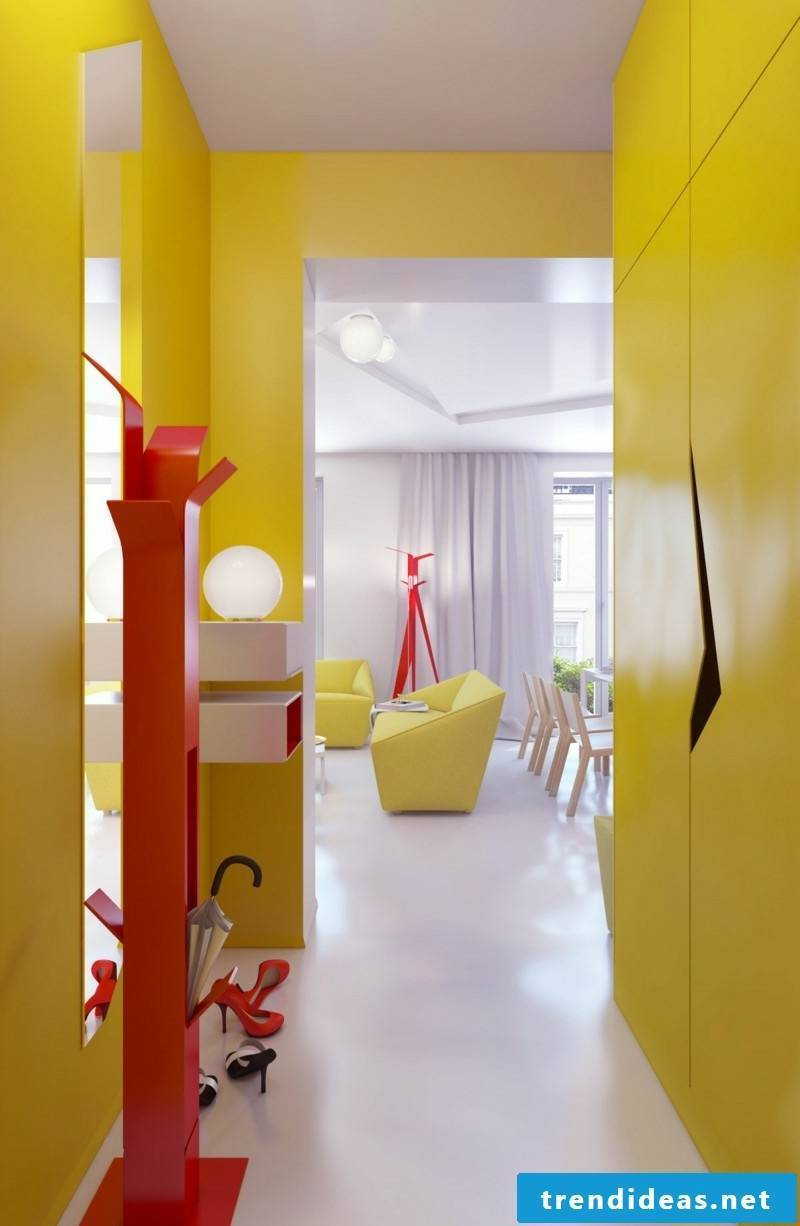 modern design of the corridor