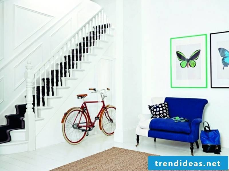 Hallway in bright colors