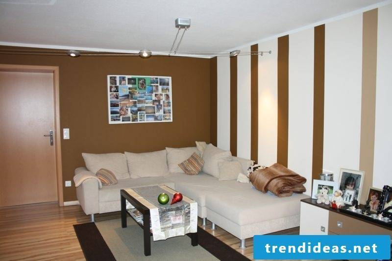 Living room colors wall white chocolate brown