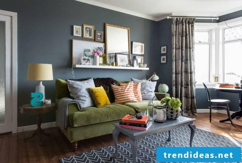 Wall colors Palette ideas Living room Dark gray