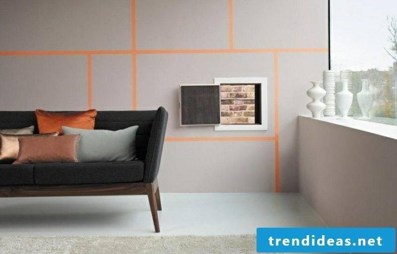 Living room colors wall geometric pattern