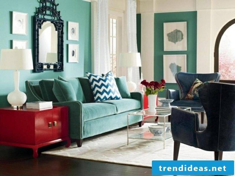 Wall colors ideas turkish blue living room