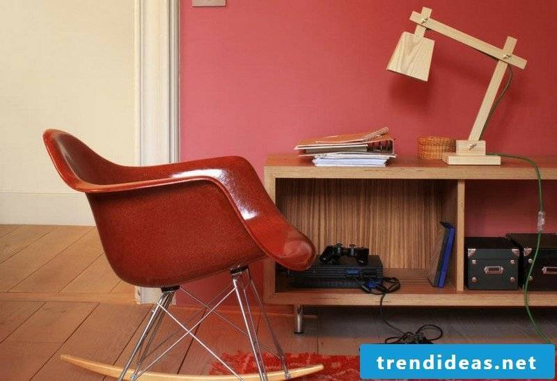 Wall colors ideas living room accent wall berry red