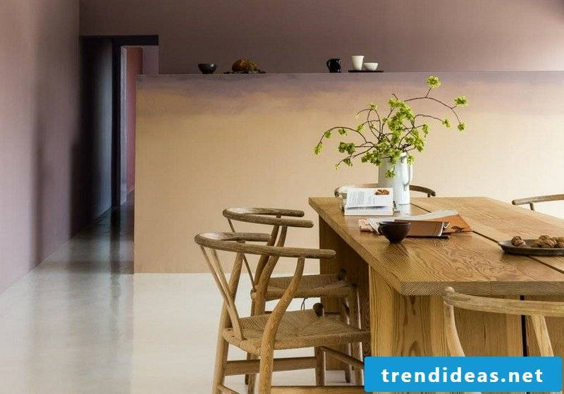 Wall colors Ideas Living room with dining area Sand color