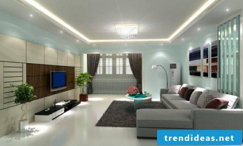 Furniture modern living room wall paint light blue