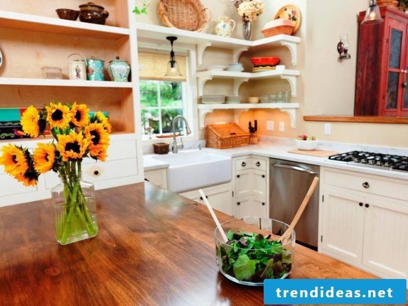 Wooden kitchen tops