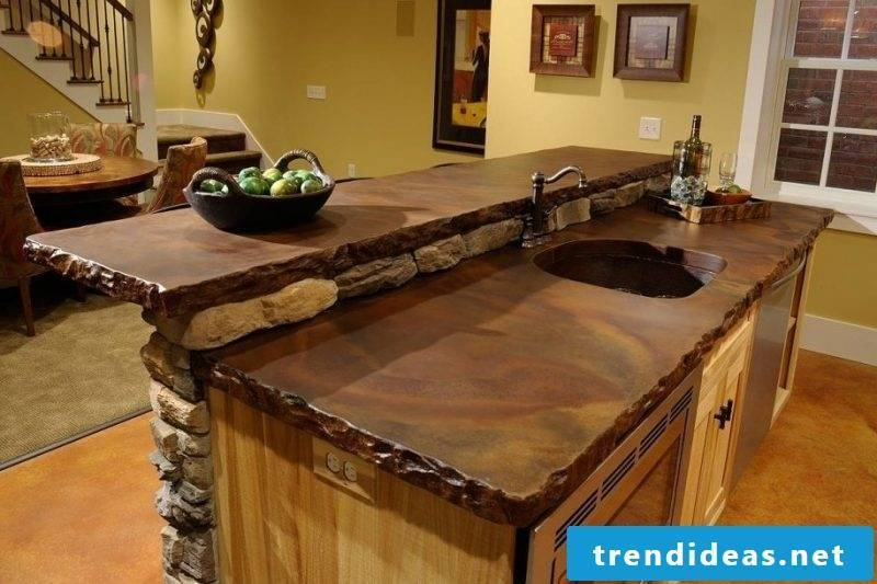 Kitchen tops real wood