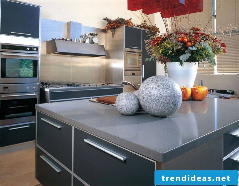 Kitchen top materials in comparison