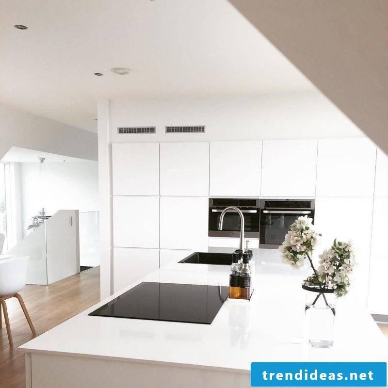 Kitchen plates in white