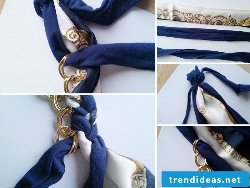 DIY bracelet made of fabric