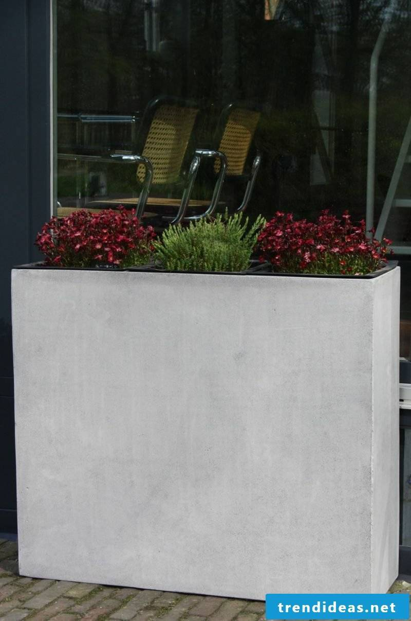 concrete planter separator Elemento