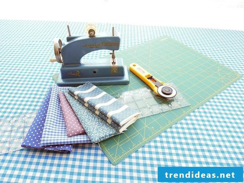 Patchwork blanket sew materials