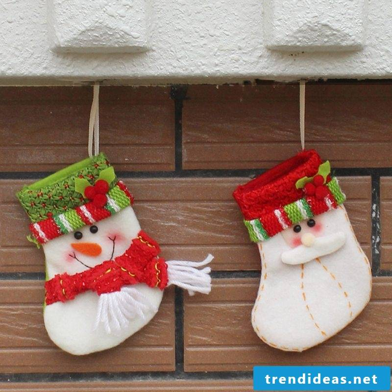 Santa Claus gifts Christmas tree decorations