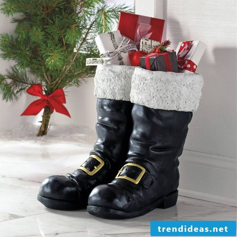 Big boots have plenty of room for big Santa Claus gifts