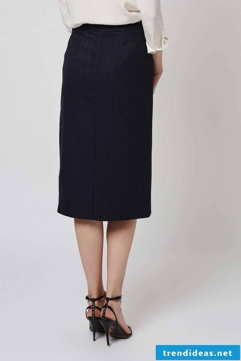 classic black wrap skirt