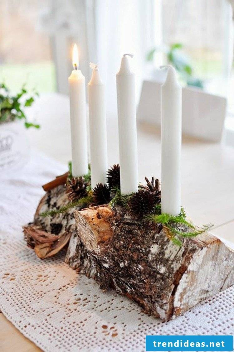 Advent wreath order modern and natural