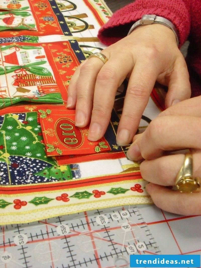 Advent calendars sew DIY instructions