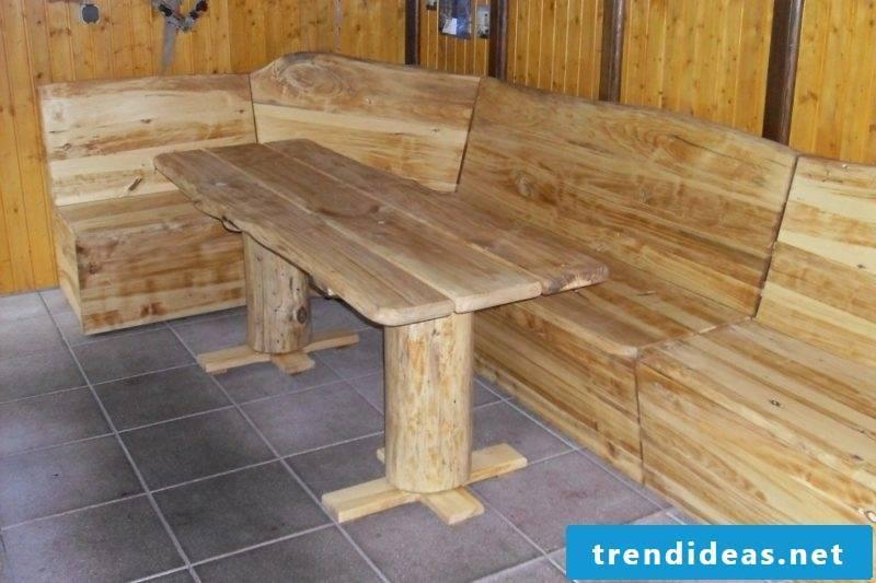 original corner bench driftwood
