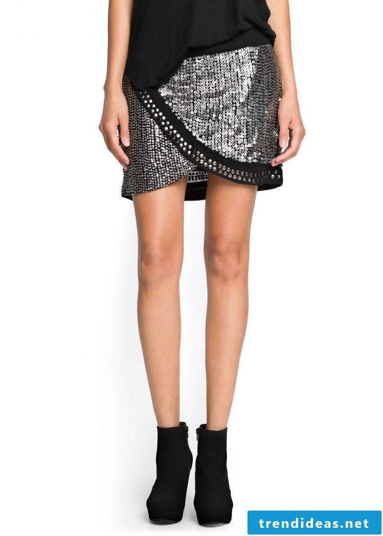 extravagant short wrap skirt