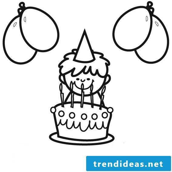 Birthday cake pictures Coloring page